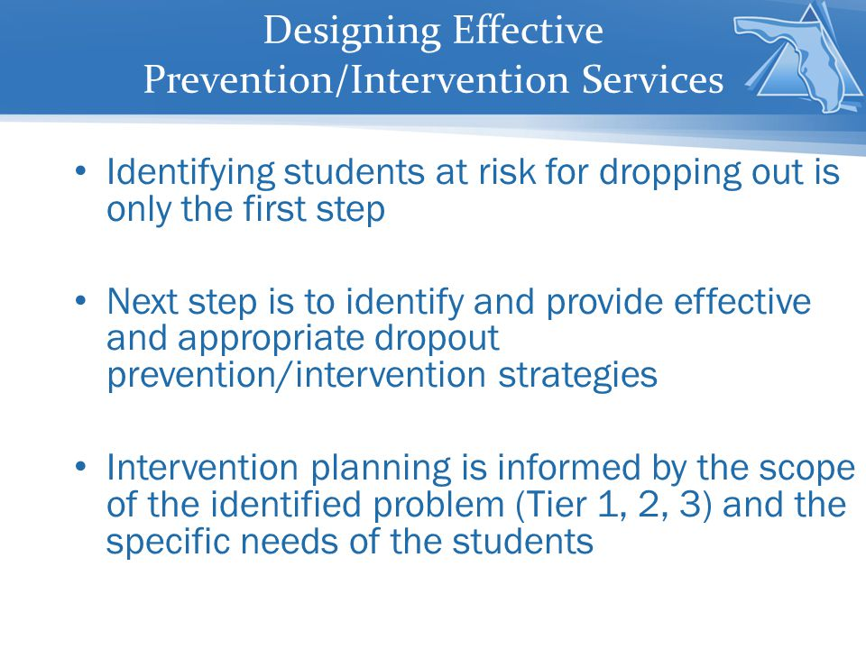Designing Effective Prevention/Intervention Services