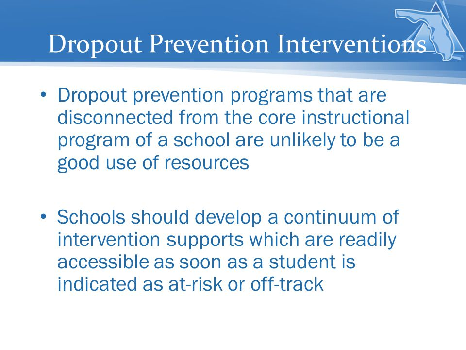 Dropout Prevention Interventions