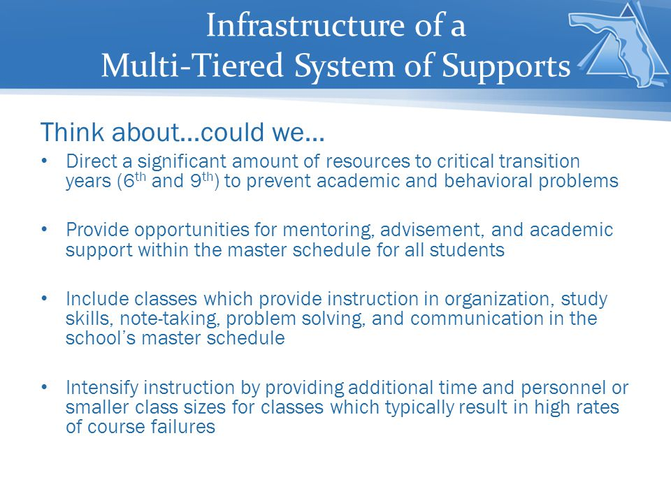 Infrastructure of a Multi-Tiered System of Supports