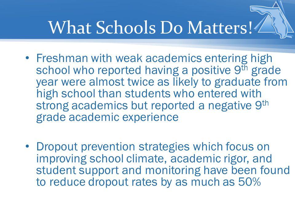 What Schools Do Matters!