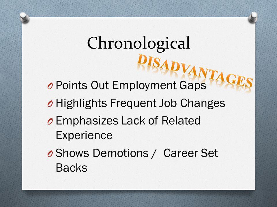 Chronological Disadvantages Points Out Employment Gaps