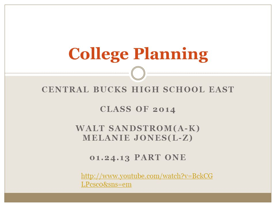 Central bucks high school EAST