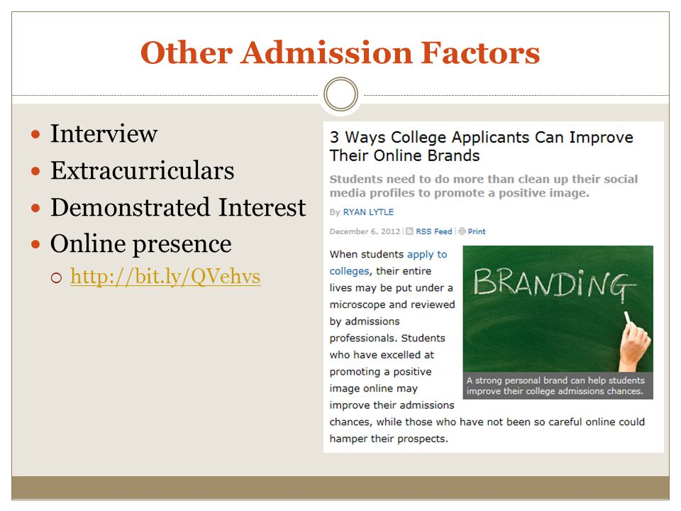 Other Admission Factors