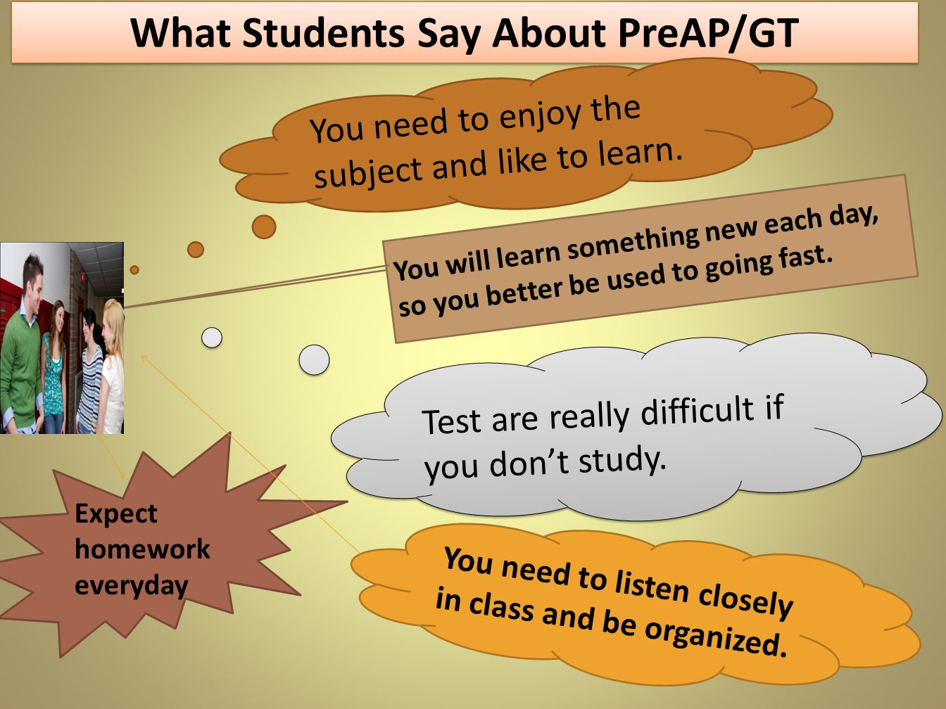 What Students Say About PreAP/GT