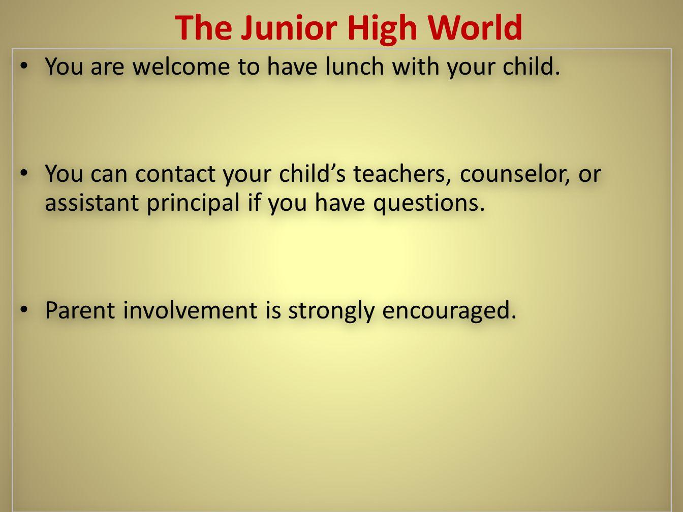 T T The Junior High World