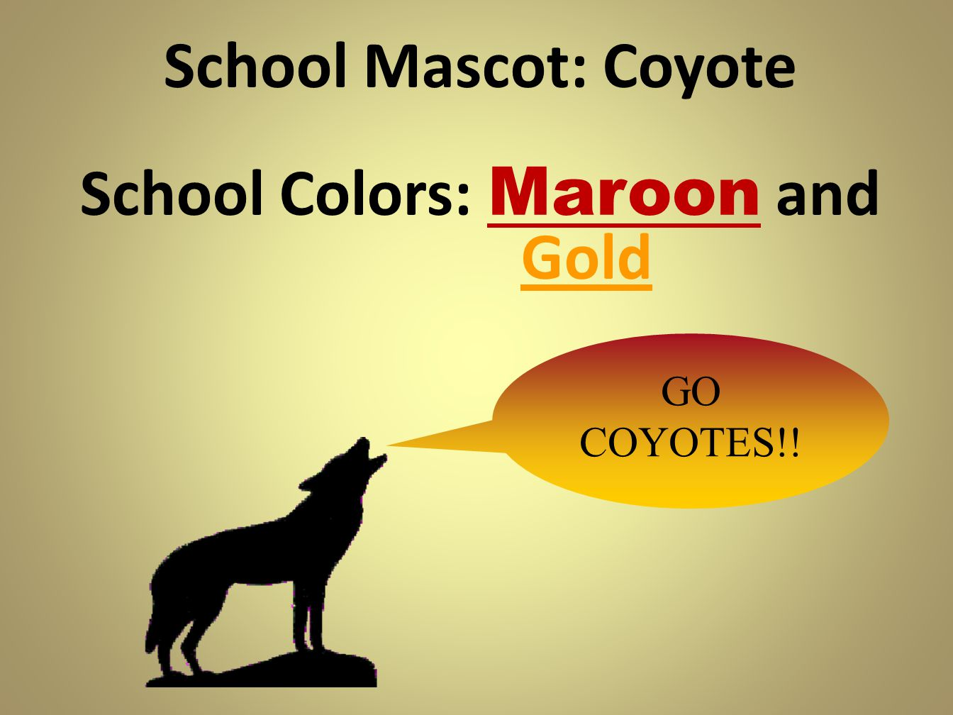 School Colors: Maroon and