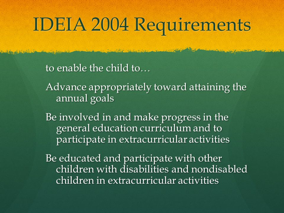 IDEIA 2004 Requirements