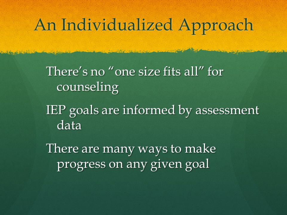 An Individualized Approach