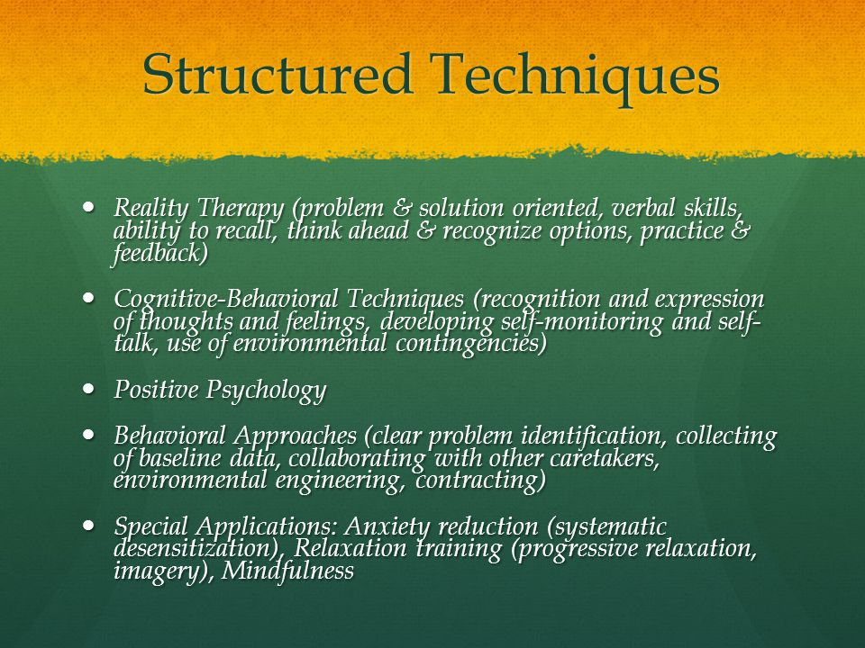 Structured Techniques