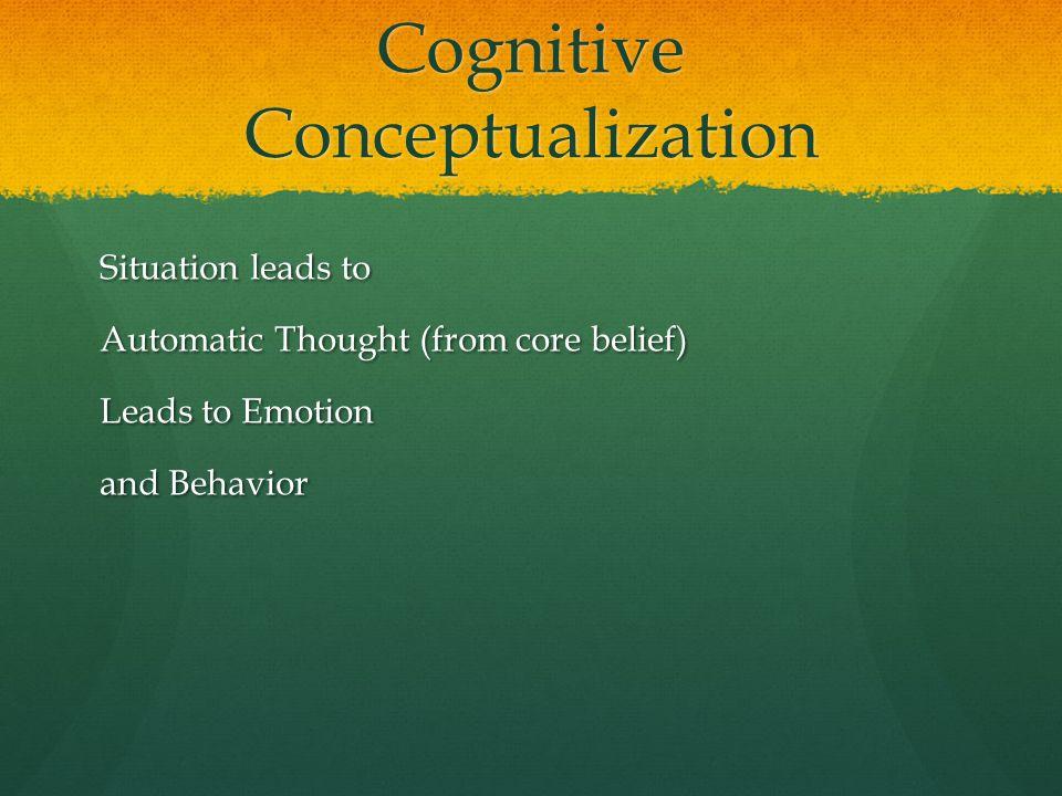 Cognitive Conceptualization