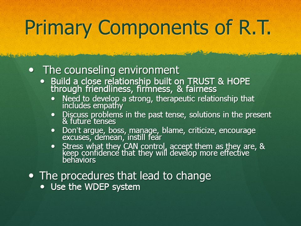 Primary Components of R.T.