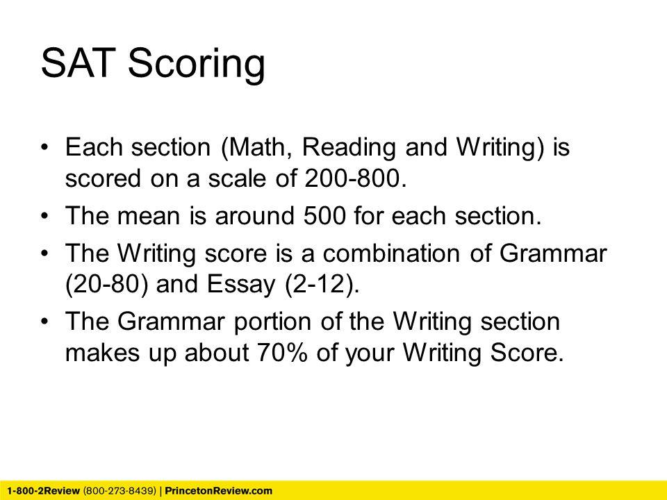 scoring an sat essay