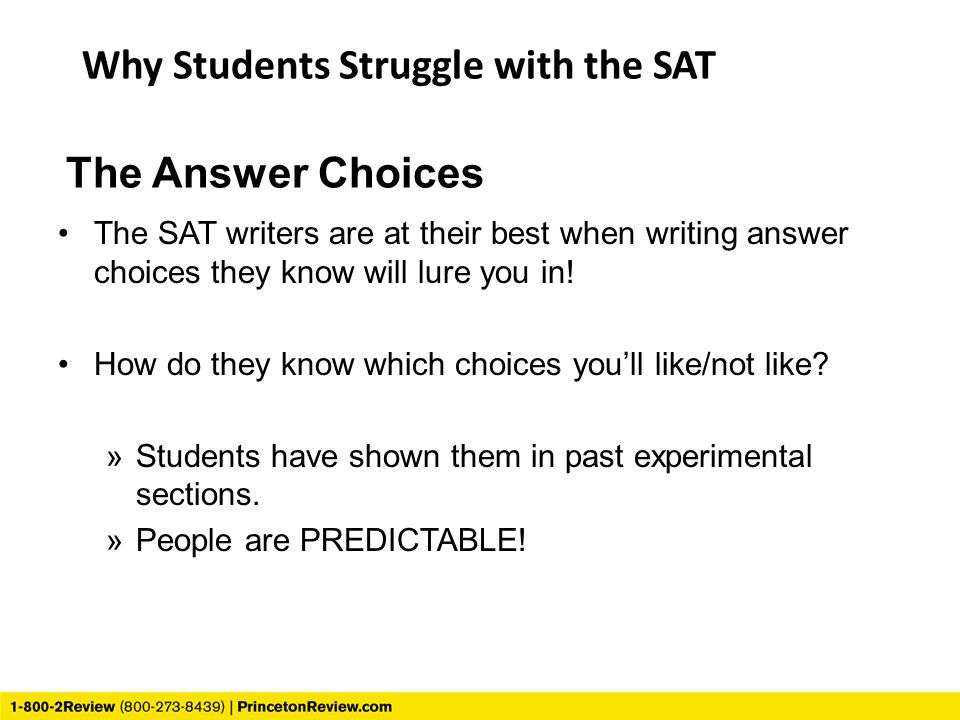 Why Students Struggle with the SAT