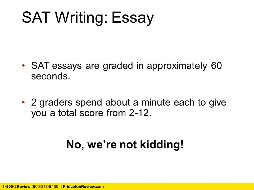 sat essay grading process