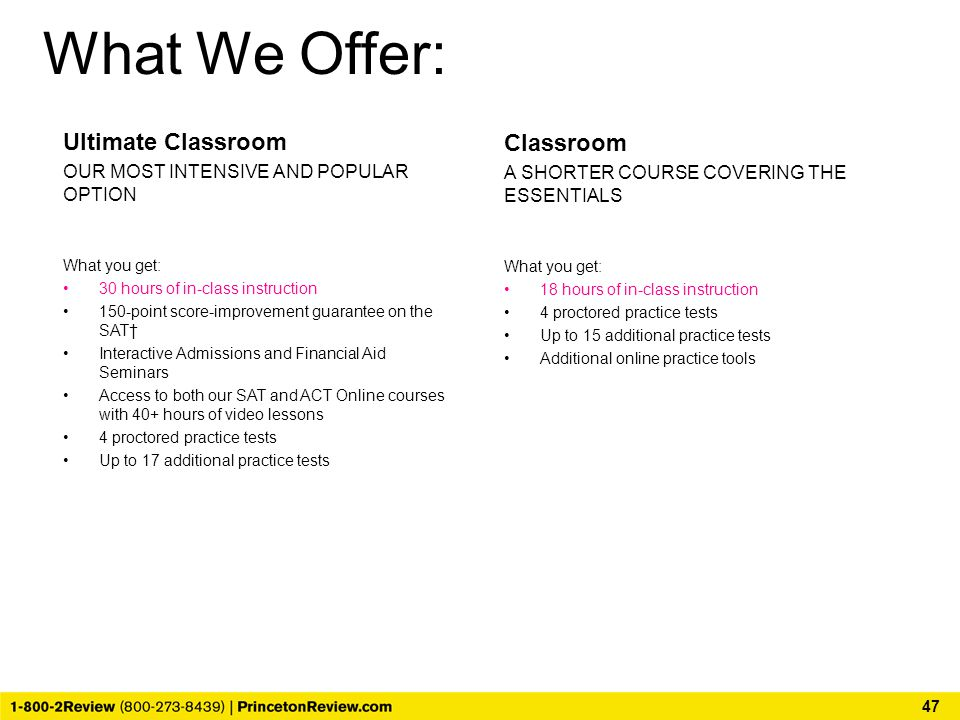 What We Offer: Ultimate Classroom Classroom