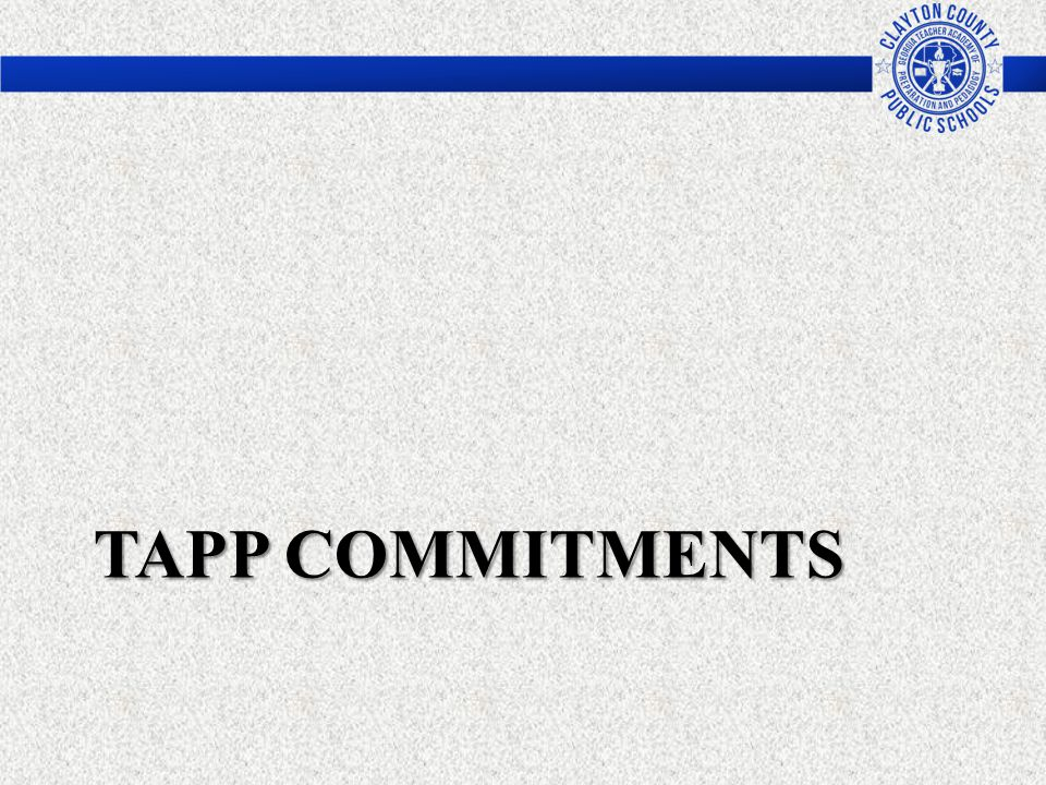 TAPP Commitments