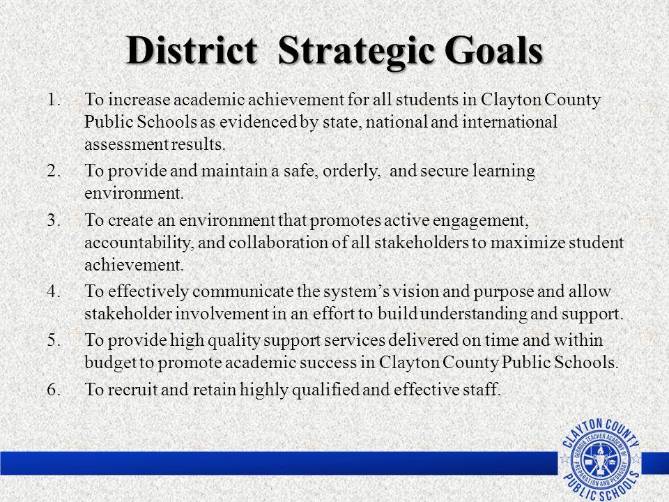 District Strategic Goals