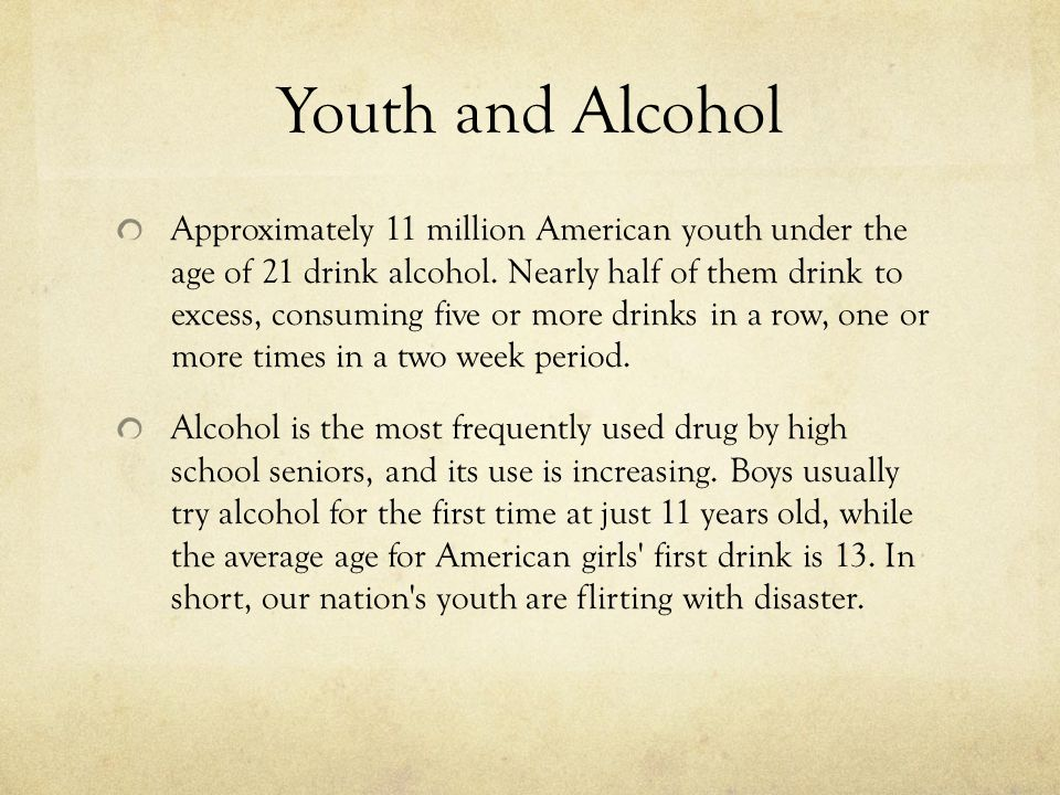 Youth and Alcohol