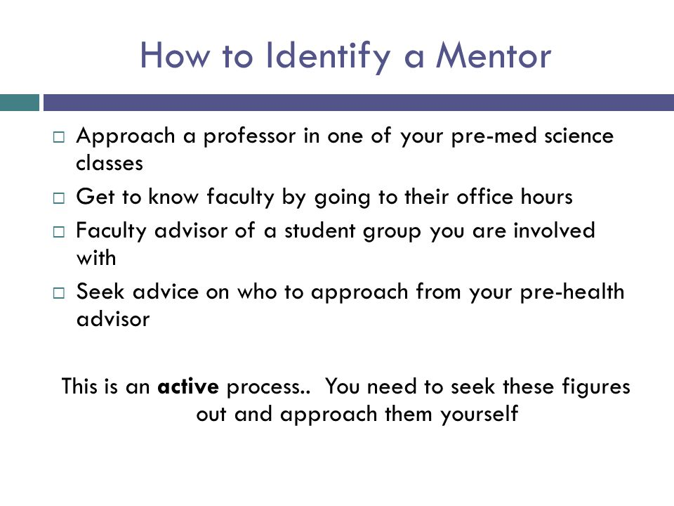 How to Identify a Mentor