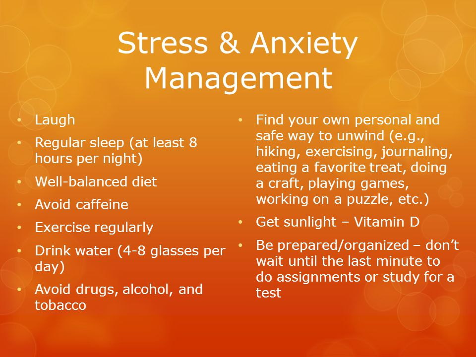 Stress & Anxiety Management