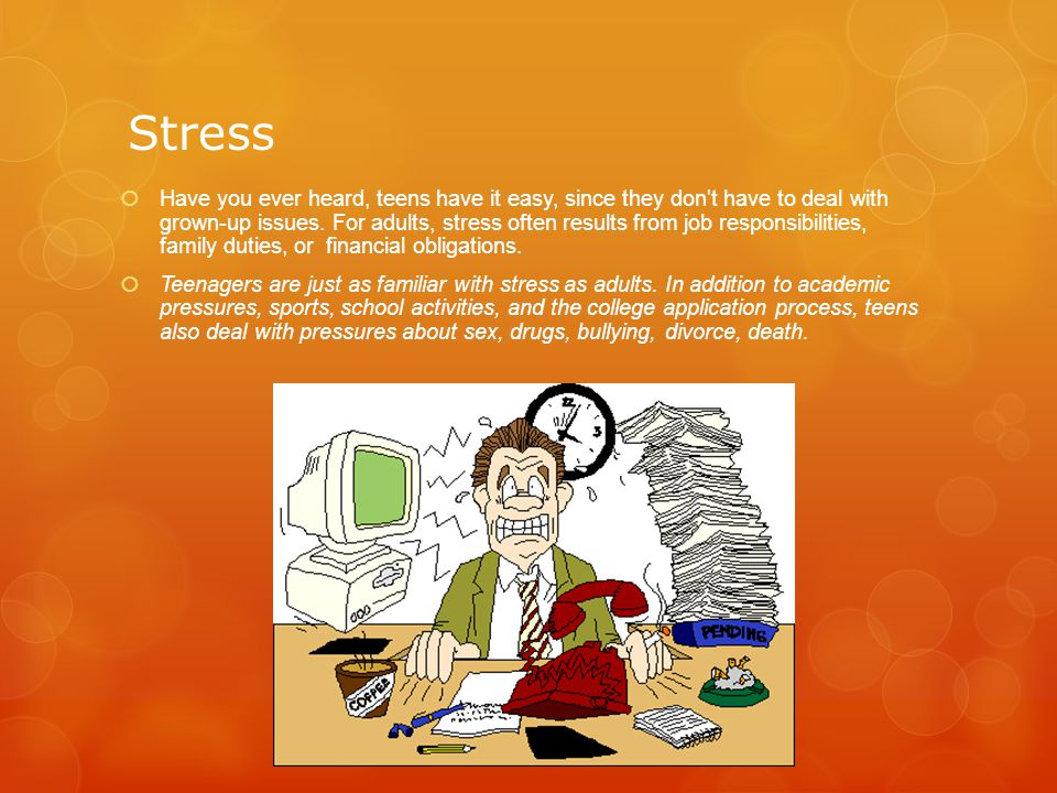 stress in adult vs young rats