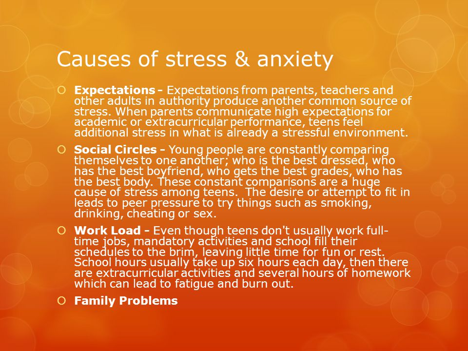 Causes of stress & anxiety