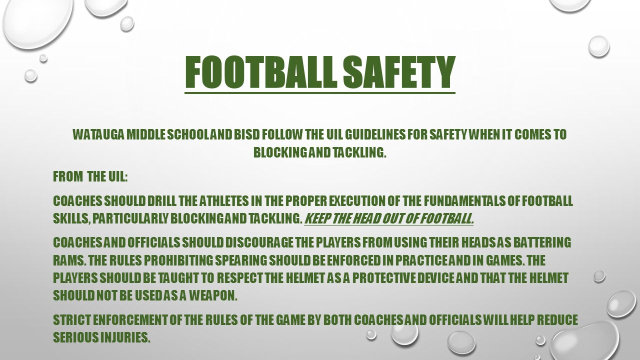FOOTBALL SAFETY
