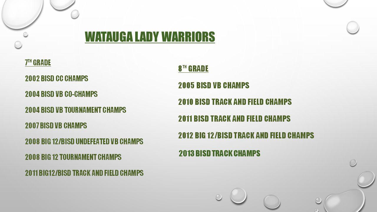 WATAUGA LADY WARRIORS 2013 BISD TRACK CHAMPS