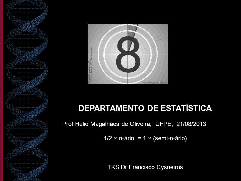 DEPARTAMENTO DE ESTATÍSTICA