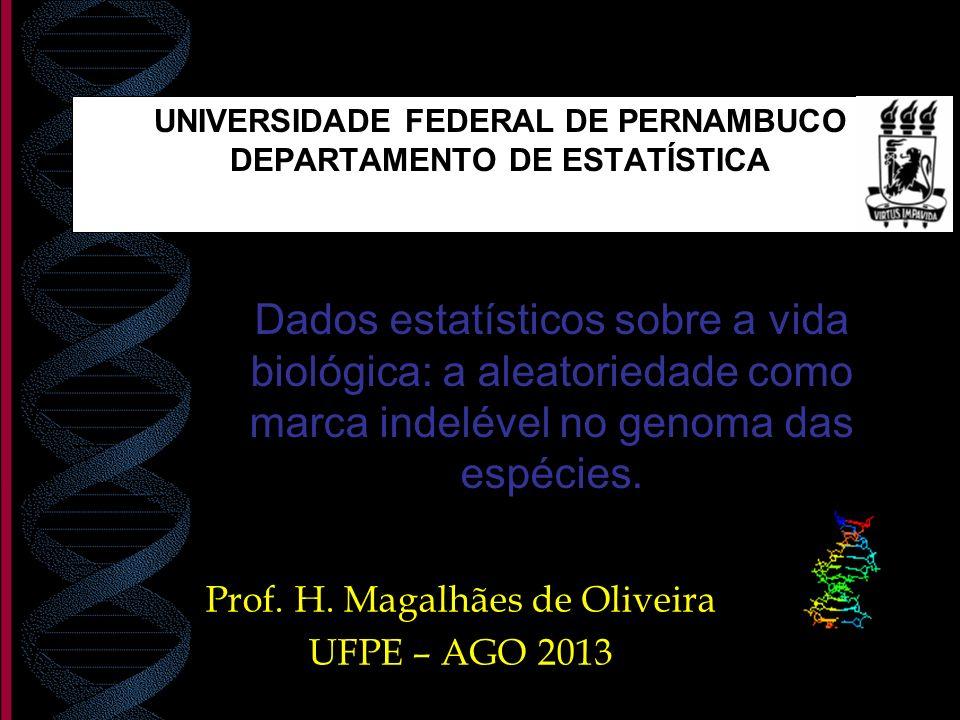 UNIVERSIDADE FEDERAL DE PERNAMBUCO DEPARTAMENTO DE ESTATÍSTICA