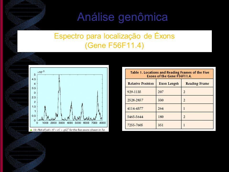 Espectro para localização de Éxons (Gene F56F11.4)