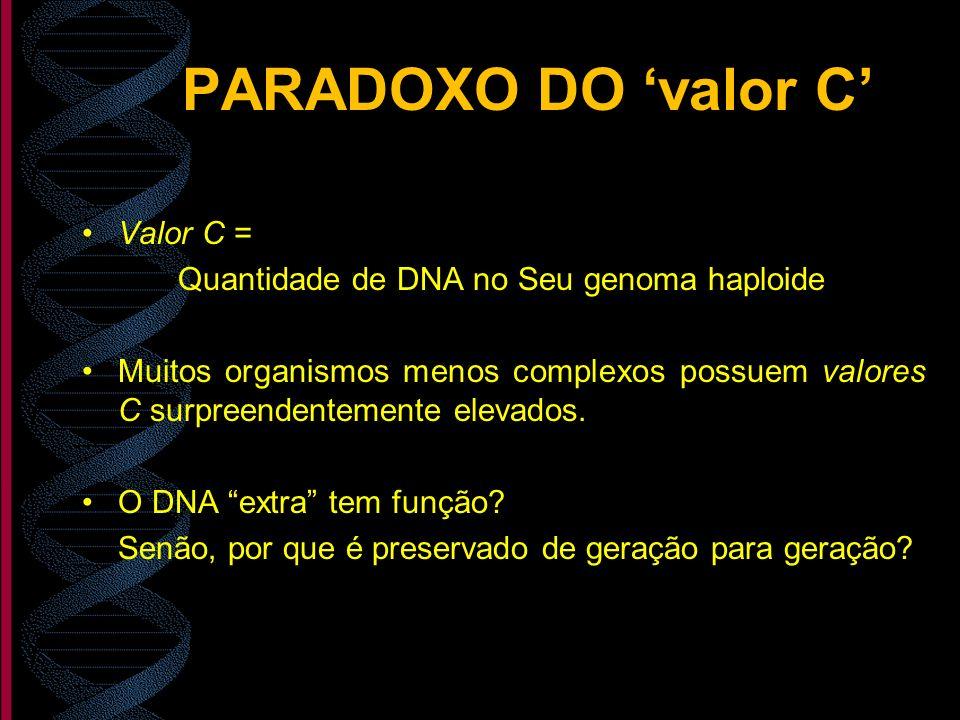 PARADOXO DO 'valor C' Valor C =