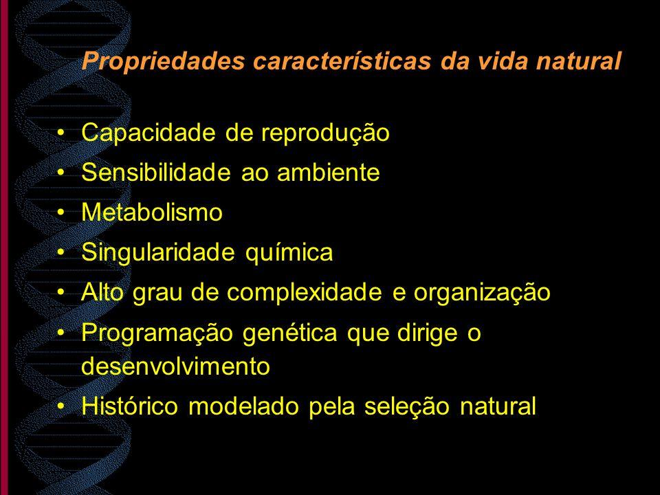 Propriedades características da vida natural