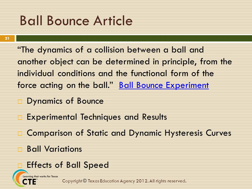 Ball Bounce Article