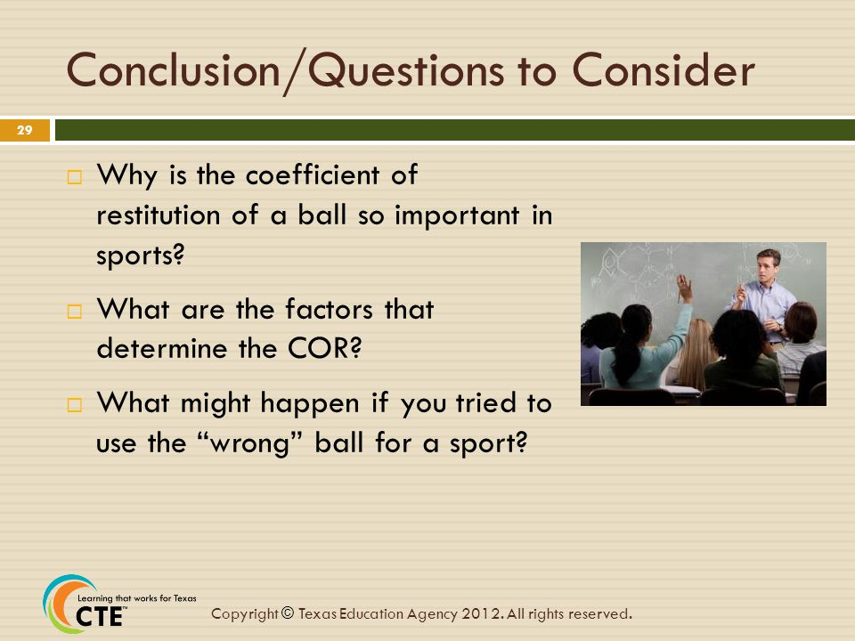 Conclusion/Questions to Consider