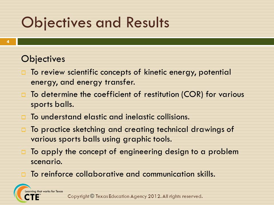 Objectives and Results