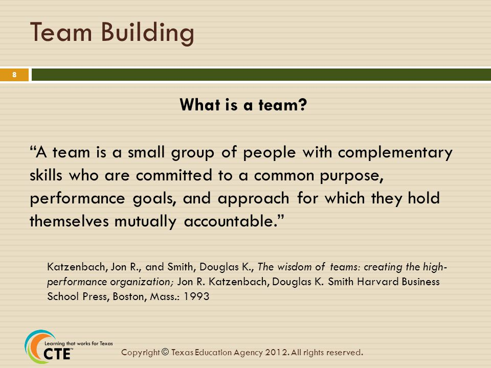 Team Building What is a team