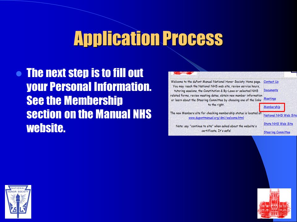 Application Process The next step is to fill out your Personal Information.