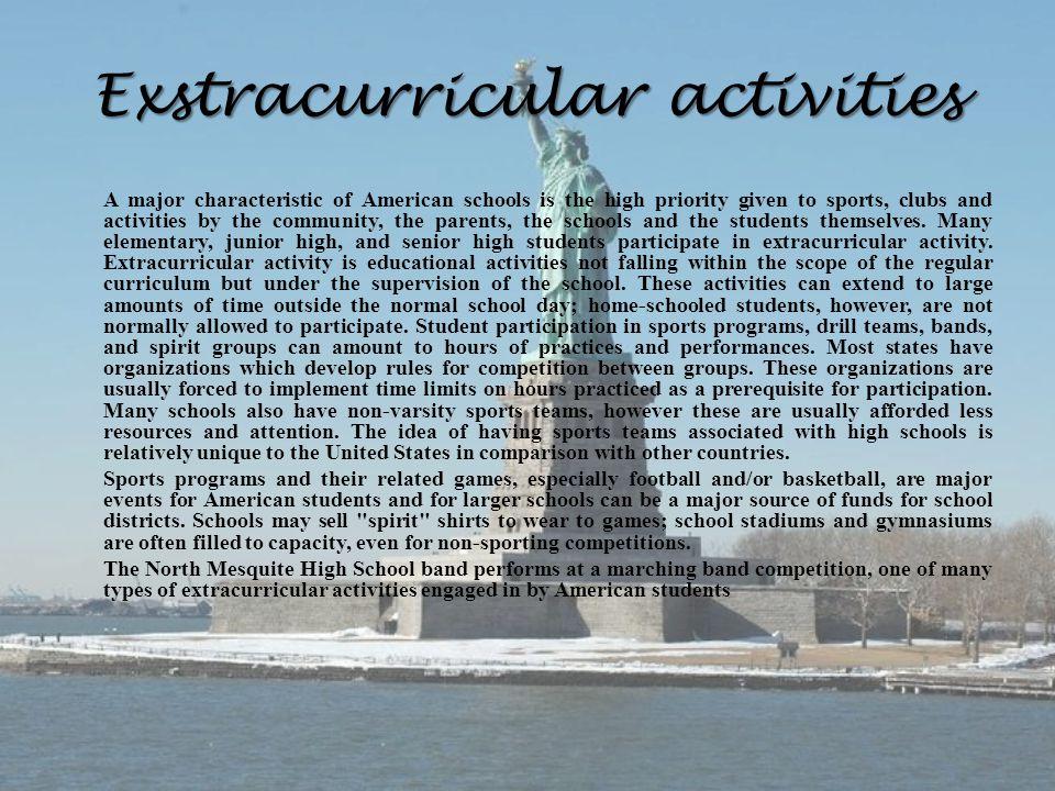Exstracurricular activities