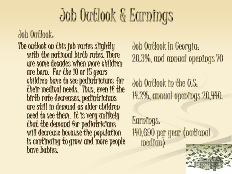 Job Outlook & Earnings Job Outlook: Job Outlook In Georgia: