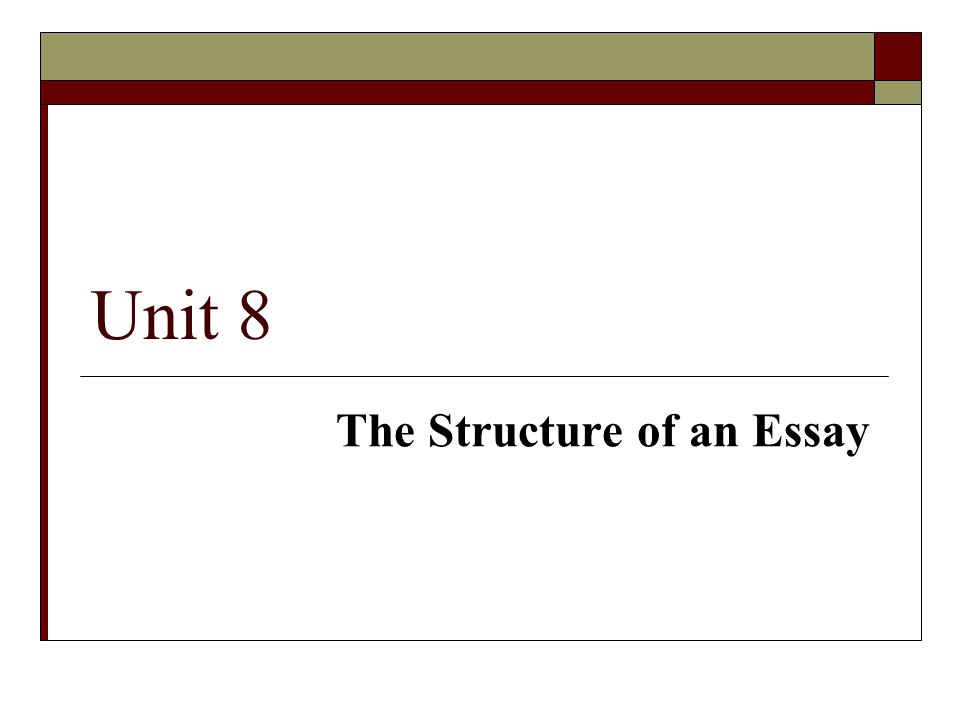 the structure of an essay ppt  the structure of an essay