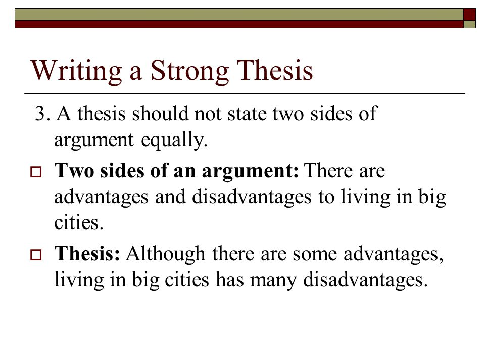 Writing a Strong Thesis