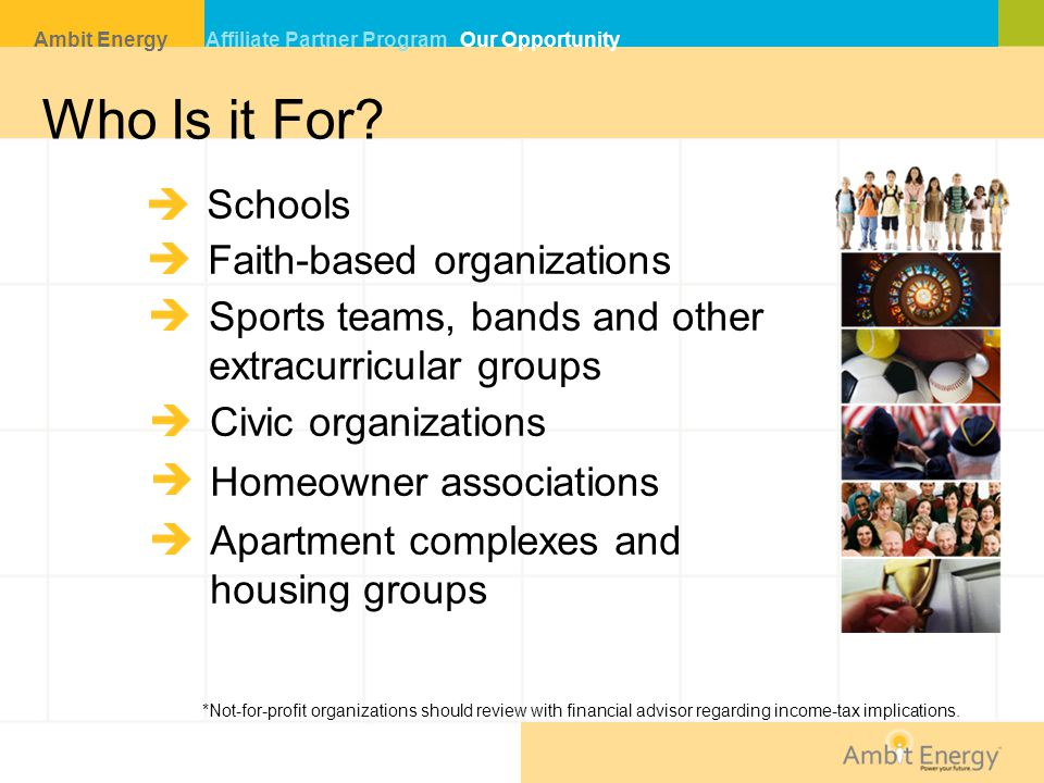 Who Is it For Schools Faith-based organizations