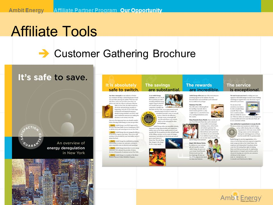 Affiliate Tools Customer Gathering Brochure Ambit Energy