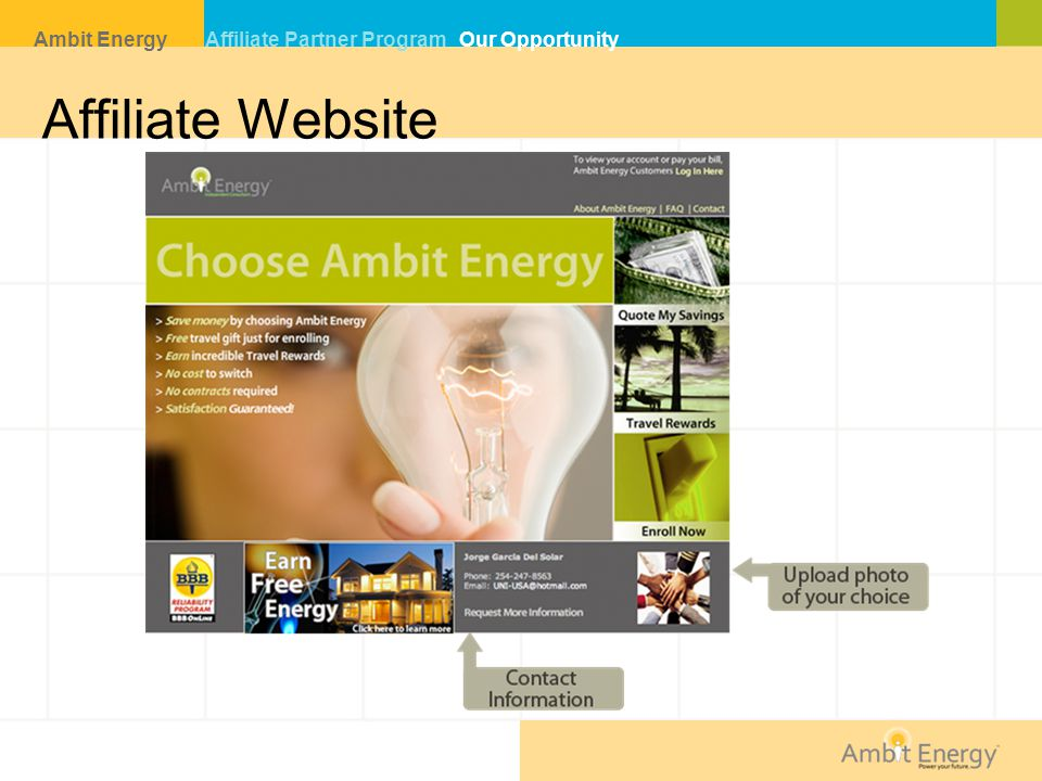 Affiliate Website Ambit Energy Affiliate Partner Program