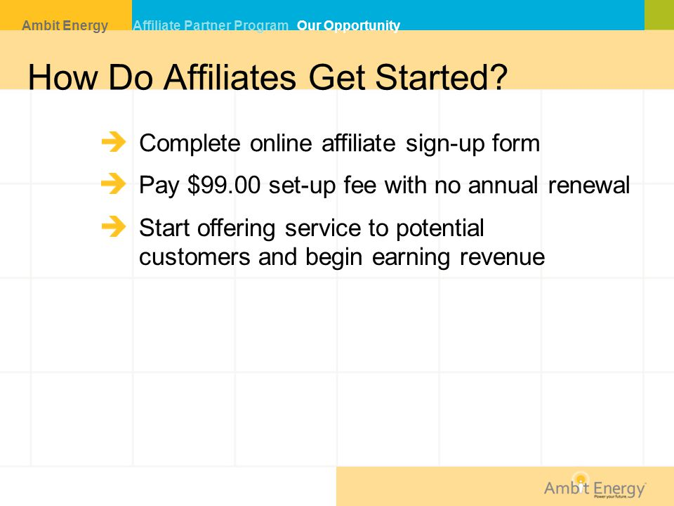 How Do Affiliates Get Started