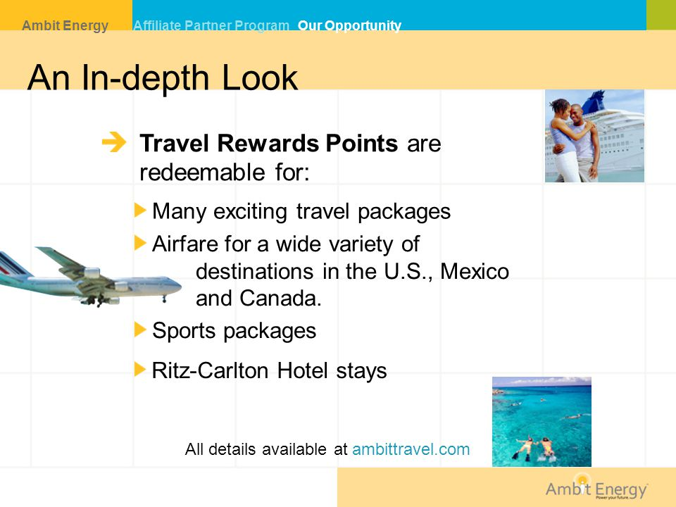 An In-depth Look Travel Rewards Points are redeemable for: