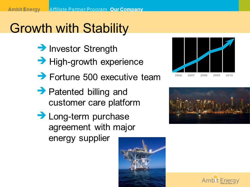 Growth with Stability Investor Strength High-growth experience
