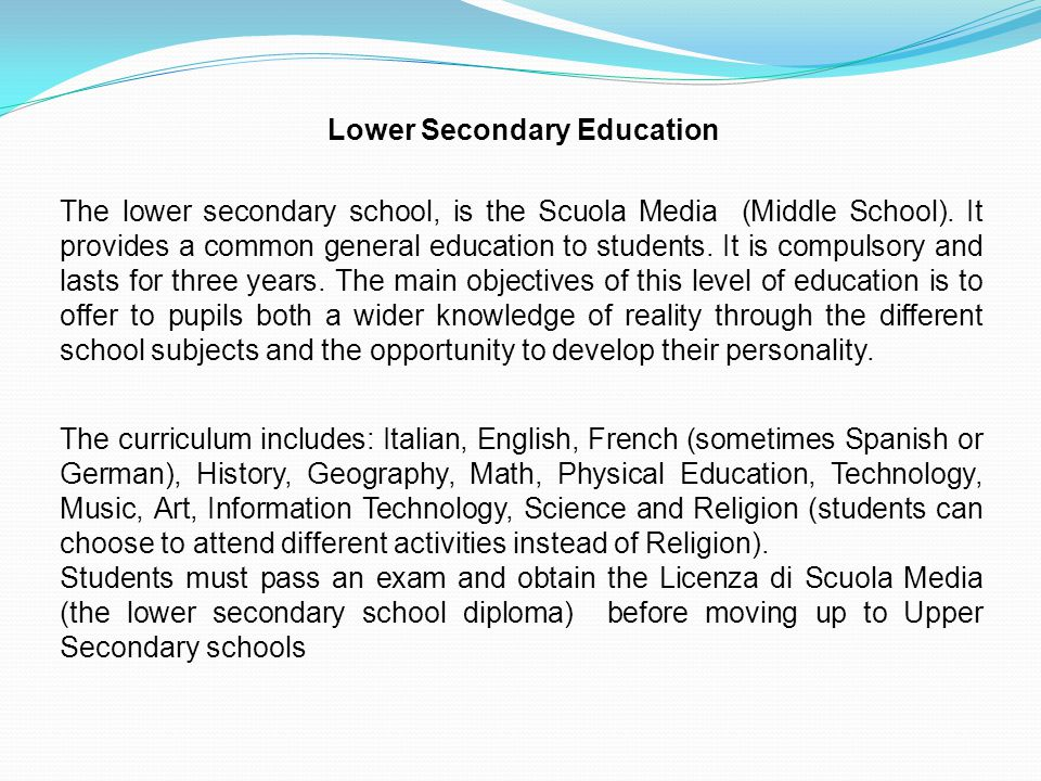 Lower Secondary Education