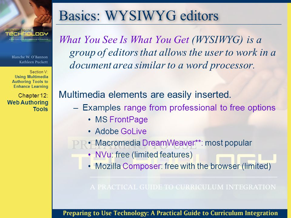 Basics: WYSIWYG editors